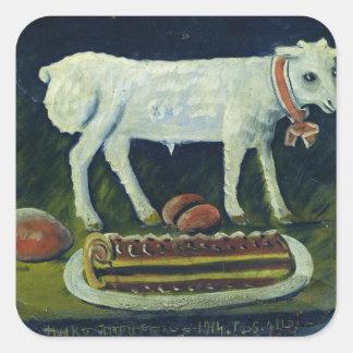 A paschal lamb 1914 square sticker