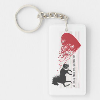 A Paso Fino Has Stolen My Heart Key Chain
