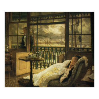 A Passing Storm, by James Tissot Poster