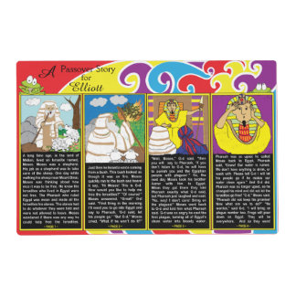 """""""A Passover Story"""" Laminated Placemat 12"""" x 18"""""""