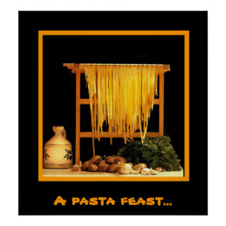 A pasta feast poster