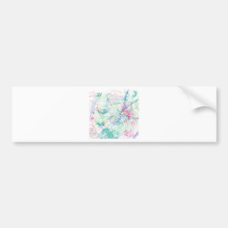 A Pastel Garden Bumper Sticker
