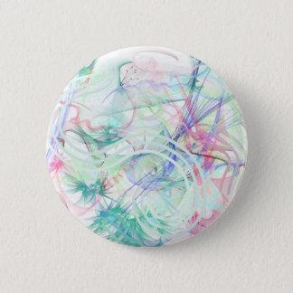 A Pastel Garden Pinback Button