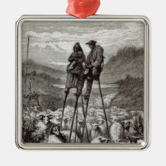 A Pastoral in the Landes Metal Ornament