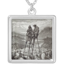 A Pastoral in the Landes Silver Plated Necklace