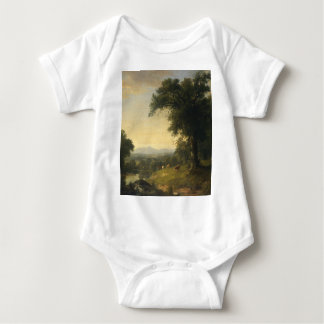 A Pastoral Scene By Asher Brown Durand Baby Bodysuit