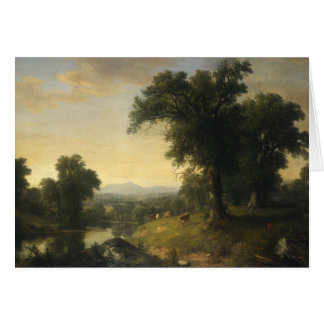 A Pastoral Scene By Asher Brown Durand Card