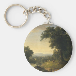 A Pastoral Scene By Asher Brown Durand Key Chain