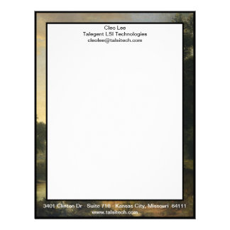 A Pastoral Scene By Asher Brown Durand Custom Letterhead