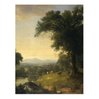 A Pastoral Scene By Asher Brown Durand Postcard