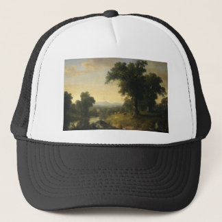 A Pastoral Scene By Asher Brown Durand Trucker Hat