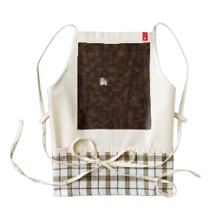 A patch of white surrounded by brown zazzle HEART apron