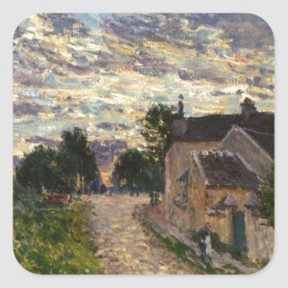 A Path in Louveciennes by Alfred Sisley Square Sticker