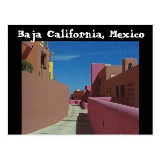 A Path Through Colorful Walls, Baja California Postcard