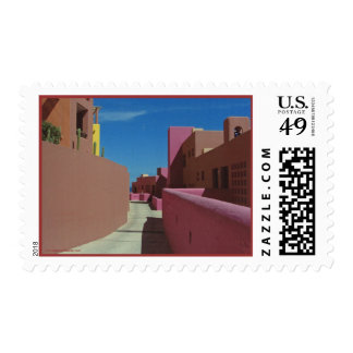 A Path Through Colorful Walls Postage