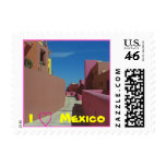 A Path Through Colorful Walls - small size Postage Stamps