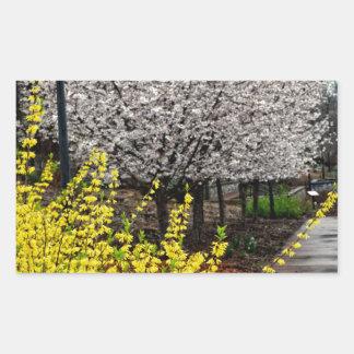 A Path Through the Garden Rectangular Sticker