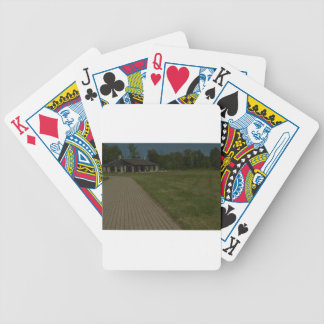 A path to shelter bicycle playing cards