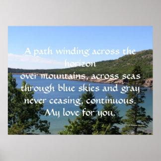 A path winding across the horizon poster