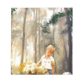 a path with a heart painting notepads
