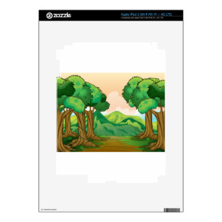 A pathway decals for iPad 3
