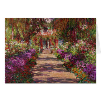 A Pathway in Monet's Garden, Giverny, 1902 Greeting Card