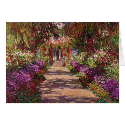 A Pathway in Monet's Garden, Giverny, 1902 Card