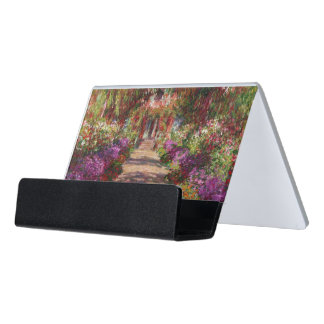 A Pathway in Monet's Garden, Giverny, 1902 Desk Business Card Holder