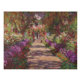 A Pathway in Monet's Garden, Giverny, 1902 Wood Wall Art