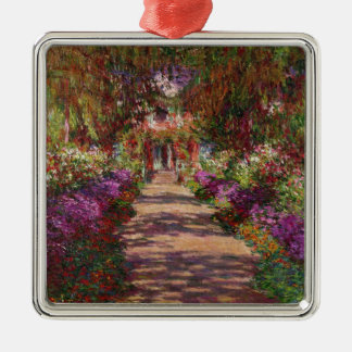 A Pathway in Monet's Garden, Giverny, 1902 Metal Ornament