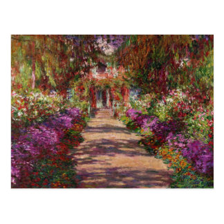 A Pathway in Monet's Garden, Giverny, 1902 Postcard