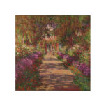 A Pathway in Monet's Garden, Giverny, 1902 Wood Canvases