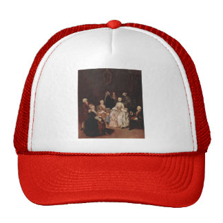 A Patrician Family by Pietro Longhi Mesh Hats