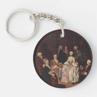A Patrician Family by Pietro Longhi Acrylic Keychain