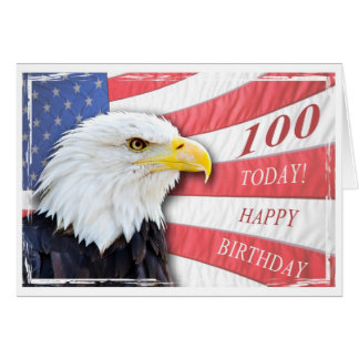 A patriotic 100th birthday card