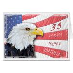 A patriotic 35th birthday card