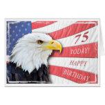 A patriotic 75th birthday card
