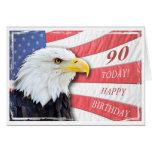 A patriotic 90th birthday card