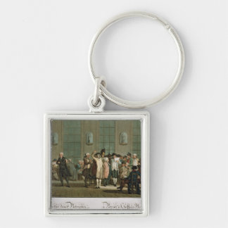 A Patriot's Coffee House Silver-Colored Square Keychain