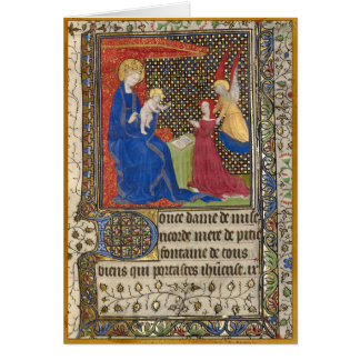 A Patron Presented to the Virgin and Child Card