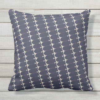 a pattern of airplanes . air theme throw pillow