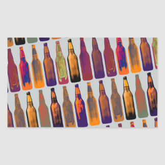 a pattern of bottles (beer) rectangular sticker