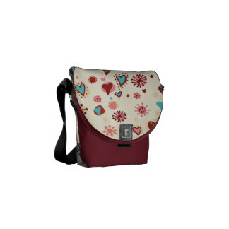 A Pattern of Hearts Courier Bag