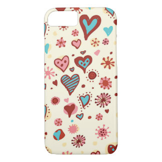 A Pattern of Hearts iPhone 8/7 Case