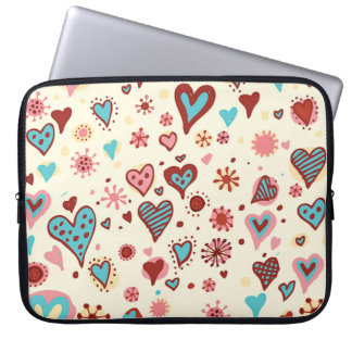 A Pattern of Hearts Laptop Sleeve