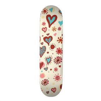A Pattern of Hearts Skateboard Deck