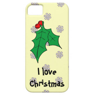 A pattern of snowflakes, I love Christmas iPhone SE/5/5s Case