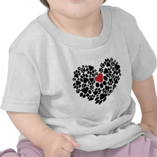 A paw touched my heart V2 T-shirts