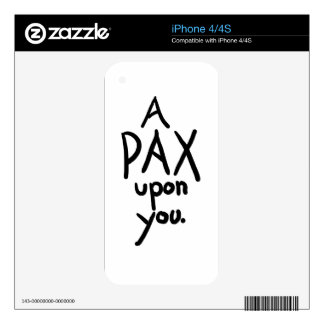 A Pax Upon You Skins For The iPhone 4