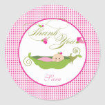 A  Pea in a Pod Baby Shower Favor Sticker